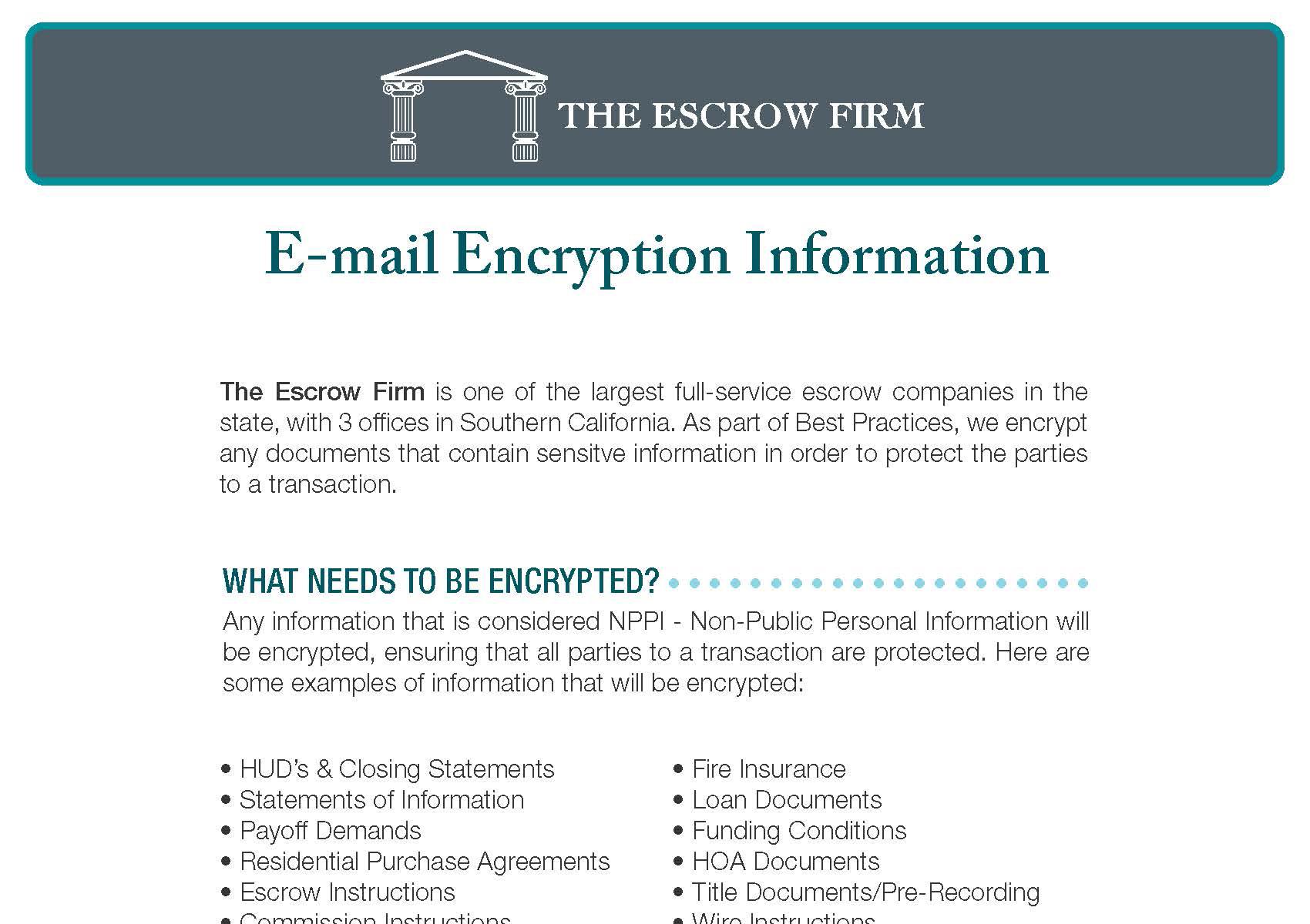 Encryption Information